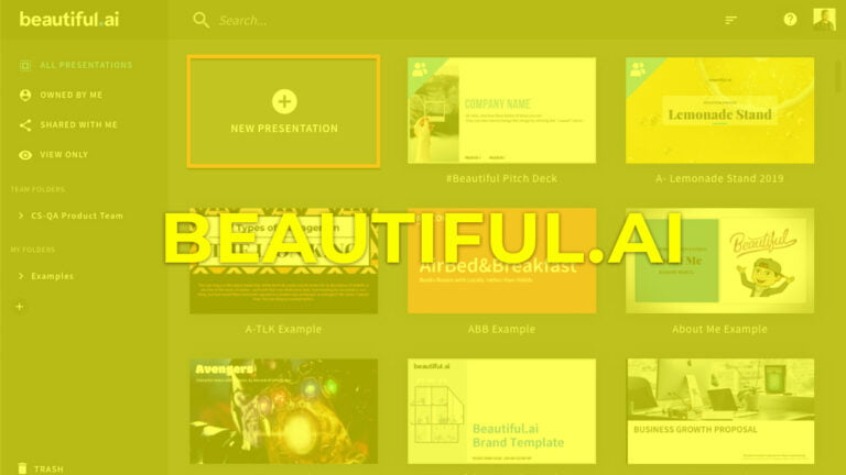 ▷ BEAUTIFUL.AI, plataforma para presentaciones con inteligencia artificial